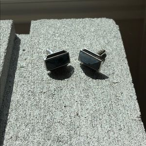 Other - Black Gemstone Cufflinks